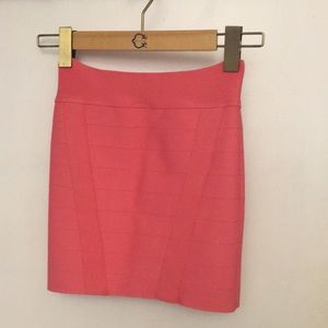 Guess xs coral bandage bodycon skirt